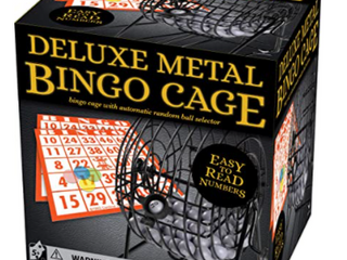 DElUXE BINGO CAGE WITH AUTOMATIC RANDOM BAll SElECTOR