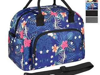 ORASANT lunch Bag  large  Durable Insulated Water resistant Cooler  Thermal lunch Bag for Women  Fashionable lunch Box with Detachable Shoulder Strap for Work  School  Beach  Picnic  Floral