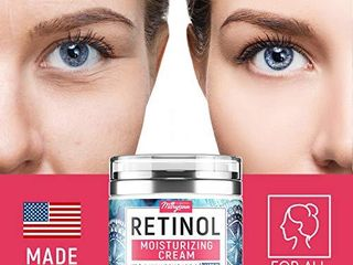 Anti Aging Retinol Moisturizer Cream for Face   Natural and Organic Night Cream   Made in USA   Wrinkle Cream for Women and Men   Facial Cream with Hyaluronic Acid and 3  Retinol Complex