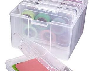 ArtBin 6947ZZ Photo   Craft Organizer Set  large Box with  5  Plastic Storage Cases Inside  Clear  5 Count