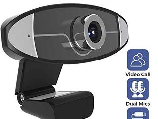 Webcam with Microphone  1080P HD Web Camera with Manual Foucs  USB Computer Camera  Sreaming Webcam for PC Mac laptop Desktop Video Calling Conferencing Recording