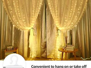 lE Curtain String lights for Bedroom Wall 300 lED Window Fairy lights with Remote  10 ft 8 Modes Waterproof IP65 Christmas Twinkle lights  Plug in Decorative Hanging lights for Wedding Party Backdrop