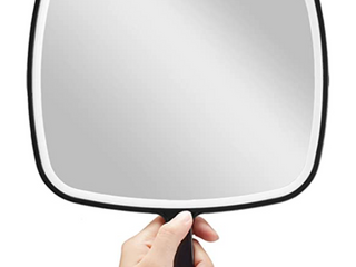 Omiro Hand Mirror  Extra large Black Handheld Mirror With Handle  9 W X 12 4 l