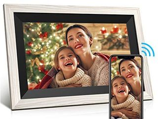 Digital Picture Frame Jeemak 10 1 Inch WiFi Photo Frame with HD IPS Touch Screen Auto Rotate Adjustable Brightness Share Photos and Videos via App at any time and Anywhere