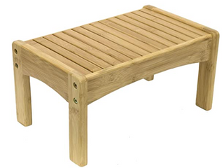 Sorbus Small Bamboo Step Stool Great Foot Rest Stool potty Training  14 X8 5x7