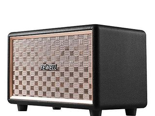 TEWEll Computer Speaker  HD 24W Audio Vintage Bluetooth Speakers Plug in Speaker with Extended Bass and Treble  Knob for Volume Control  Toggle Switch and 3 5mm AUX Input