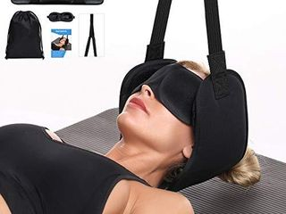 Hammock for Neck Pain Relief w Adjustable Position Sponges   Portable Head Hammock Help to Reduce Neck  Back  Shoulder and Headache Pain  Enjoy Maximum Relaxation at Home or The Office