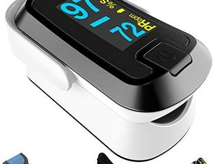 mibest OlED Finger Pulse Oximeter  O2 Meter  Dual Color White Black