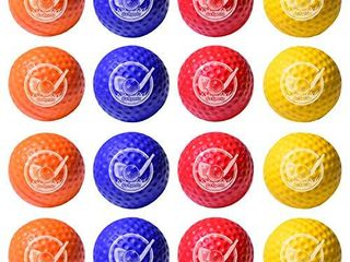 GoSports Foam Golf Practice Balls   16 Pack   Realistic Feel and limited Flight   Use Indoors or Outdoors