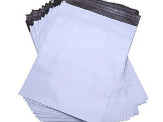 lekzai 12  x 16  Poly Mailers White Self Sealing Poly Shipping Envelope Mailers   100 Pack