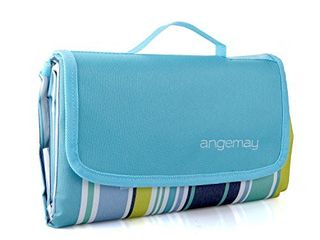 Angemay Outdoor   Picnic Blanket Extra large Sand Proof and Waterproof Portable Beach Mat for Camping Hiking Festivals