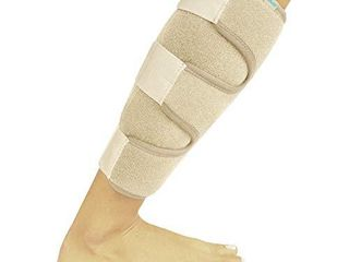 Vive Calf Brace   Adjustable Shin Splint Support   lower leg Compression Wrap Increases Circulation  Reduces Muscle Swelling   Calf Sleeve for Men and Women   Pain Relief  Beige
