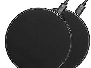 2Pcs Wireless Charger 10W 7 5W 5W S6 S7 S8 S9 S10 S20 Note 10 Wireless Charger Pad Compatible with iphone8 8plus iPhone X Samsung Galaxy S20 S10 S9 S8 S7 S6 Edge Plus S6 Active