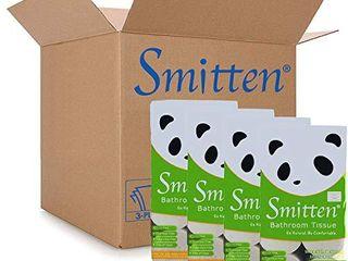 Smitten Premium Bamboo Toilet Paper  Plastic Free  No lint  No Core No Waste  Unbleached  3 ply   32 Rolls  Bulk
