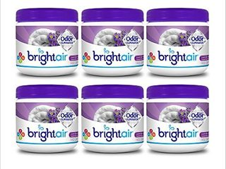 Bright Air Solid Air Freshener and Odor Eliminator  lavender and linen Scent  14 Oz Each  6 Pack