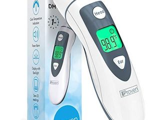 iProven DMT 489 Forehead and Ear Thermometer   Digital Infrared No Contact Thermometer for Adults  Kids and Baby   FSA or HSA Eligible   Color Fever Alarm   1 Second Temporal  Head and Ear Readings