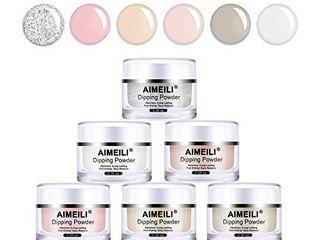 AIMEIlI Nail Dipping Powder Nail Art Powder 6 Colors for Dipping Nail