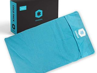ICEWRAPS 12x21 Reusable Ice Pack with Soft Fabric Cover   Oversize Flexible Cold Therapy Wrap for Back  Hip  Knee Injuries  Sciatica  and Chronic Pain Relief