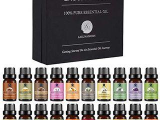 lagunamoon Premium Essential Oils Set  20 Pcs Pure Natural Aromatherapy Oils lavender Frankincense Peppermint Rose Rosemary Sandalwood