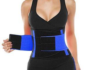 SHAPERX Women Waist Trainer Belt Waist Trimmer Belly Band Slimming Body Shaper Sports Girdles Workout Belt  SZ8002 Blue M