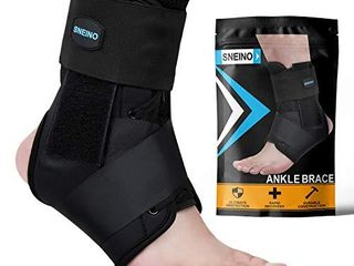 SNEINO Ankle Brace lace Up Ankle Brace for Womeni1 4Ankle Brace for Men Ankle Brace Stabilizer Ankle Brace for Sprained Ankle Ankle Braces  Volleyball Ankle Braces Ankle Supports for Women  large