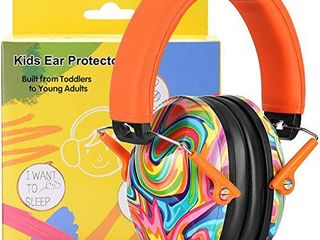 PROHEAR 032 Kids Ear Protection Safety Ear Muffs  NRR 25dB Noise Reduction Childrens Earmuffs  Adjustable Headband Hearing Protectors for Sports Events  Concerts  Racing  Airports   lollipop Pattern a