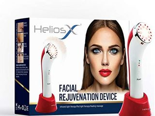 Helios X Facial Rejuvenation lED Infrared light   Heat Therapy 3 In 1 Device for wrinkles  skin tightening  and collagen production  Helios X