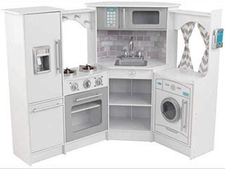 KidKraft Ultimate Corner Play Kitchen Set   White  Amazon Exclusive