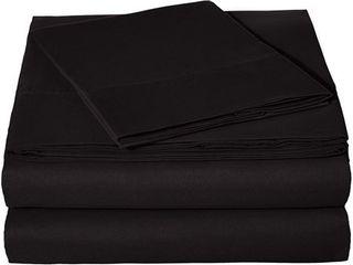 AmazonBasics Microfiber Sheet Set   Twin  Black