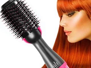 ZDatt   One Step Hair Dryer and Styler   Pink Black