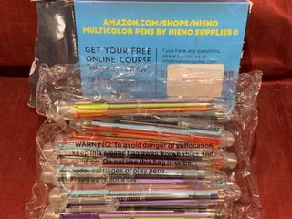 Hieno Supplies  Multicolor 6 in 1 Pens   21 Pens
