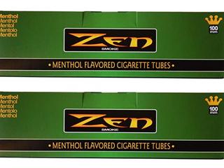 Zen Menthol 100mm Cigarette Tubes 2 Pack  400 Tubes Total