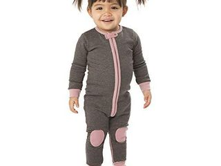baby deedee Cotton Velour long Sleeve Footless Romper Pajama  Dusty Rose  3 6 Months