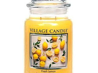Village Candle Fresh lemon 26 oz Glass Jar Scented Candle  large
