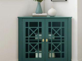 Copper Grove loches Fretwork Corner Accent Cabinet  Retail 259 99