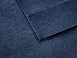 Carbon loft Porta Cotton Jersey Knit Deep Pocket Heathered King Bed Sheet Set