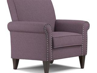 Handy living Jean Amethyst Purple linen Arm Chair