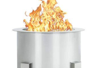Esright Smokeless Firepit  Silver  Retail   309 99