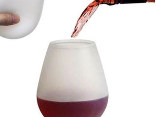 J You 12 oz Silcone Wine Glass  Set of 2