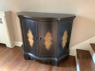 Black Painted Entry Way Cabinet