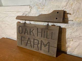 Oak Hill Farm Old Farm Sign