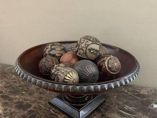 Decor Bowl W  Decorative Balls