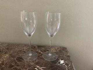 Pair Of CrystalIJ Wine Glasses