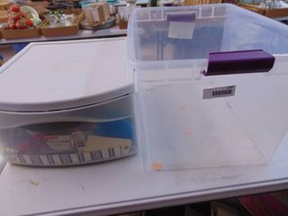 2 Sterilite containers   No lid   Contents of Drawer