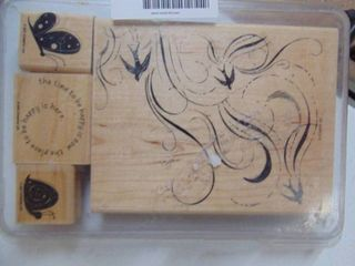 Stampin Up   French Flair   4 Stamps   not sure if a set