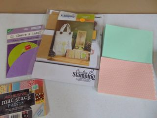 Craft Bag with Stamps and ScrapBook Paper
