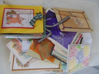 Miscellaneous Card Stock and premade Cards