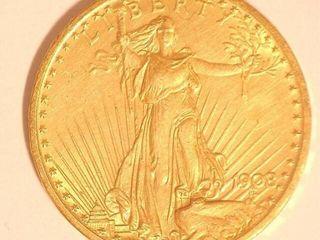 Saint Gaudens 1908 US Double Eagle  20 Gold Coin