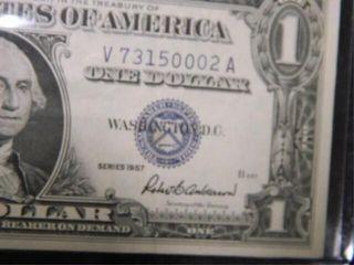 One Dollar Silver Certificate  1957  U S