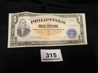 Philippines One Peso  Victory Series No  66